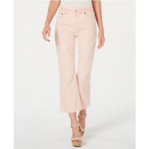 Lucky Brand Pink Bridgette Cropped Flare Jeans 28